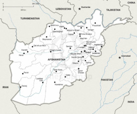Map of Afghanistan political