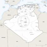 Vector map of Algeria political