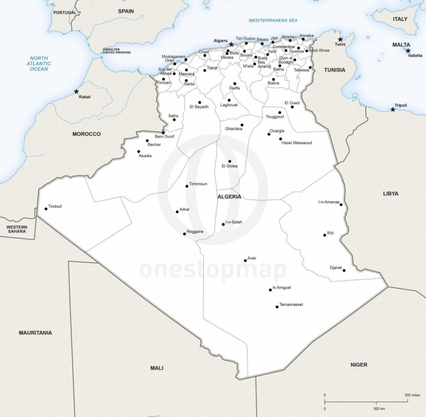 Map of Algeria political