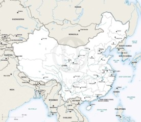 Vector map of China political