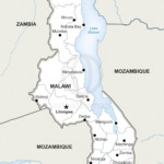 Map of Malawi political