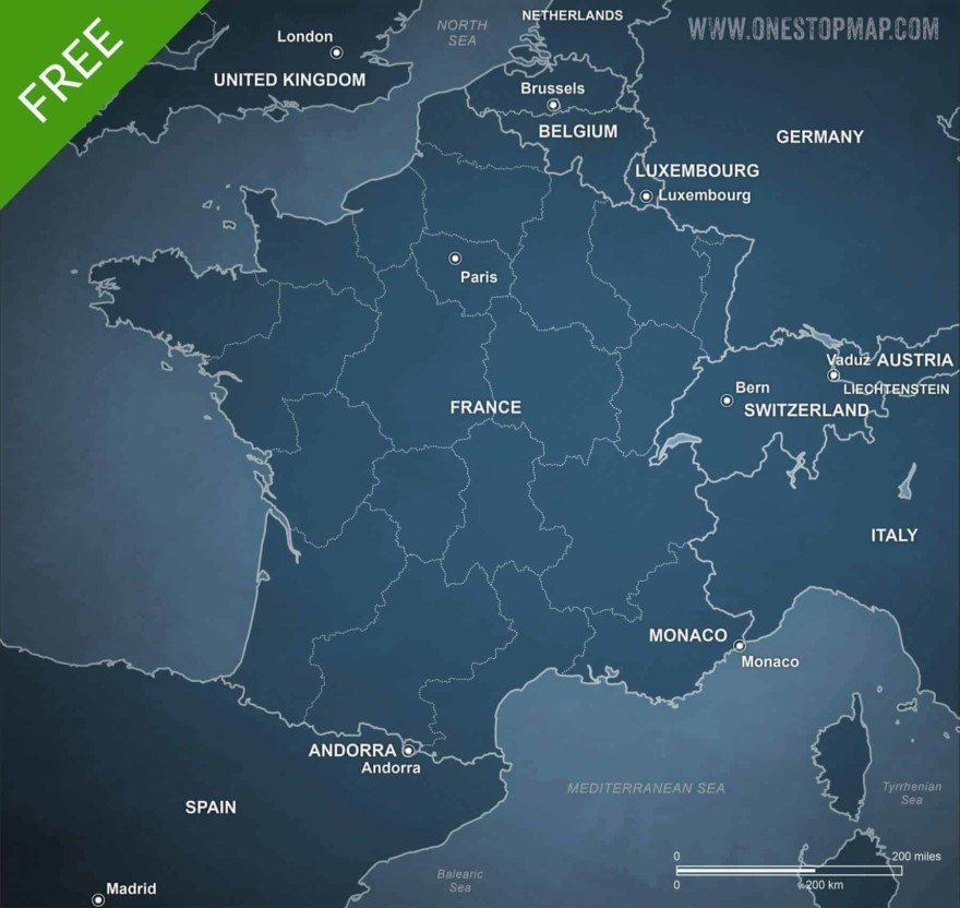 Map of France political