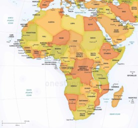 Vector map of Africa continent political