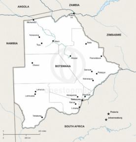 Map of Botswana political