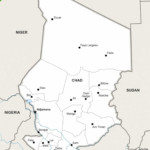 Map of Chad political