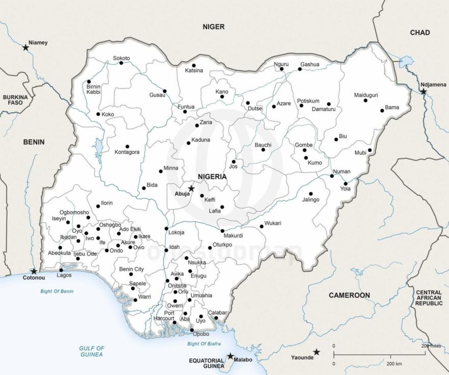 Map of Nigeria political