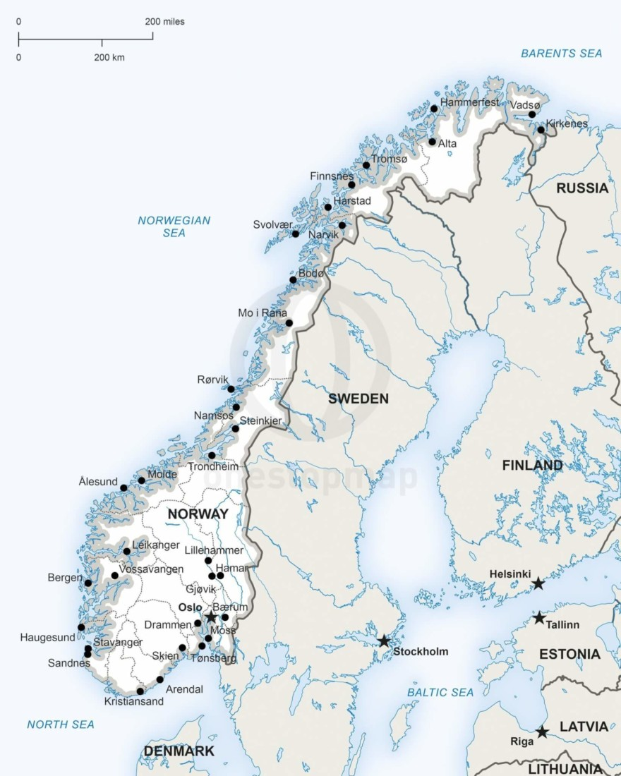 Map of Norway political
