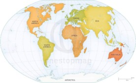 Map of World continents political