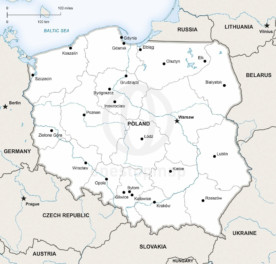 Map of Poland political