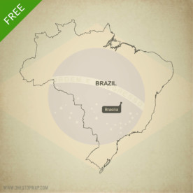 Map of Brazil outline