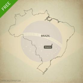 Map of Brazil outline