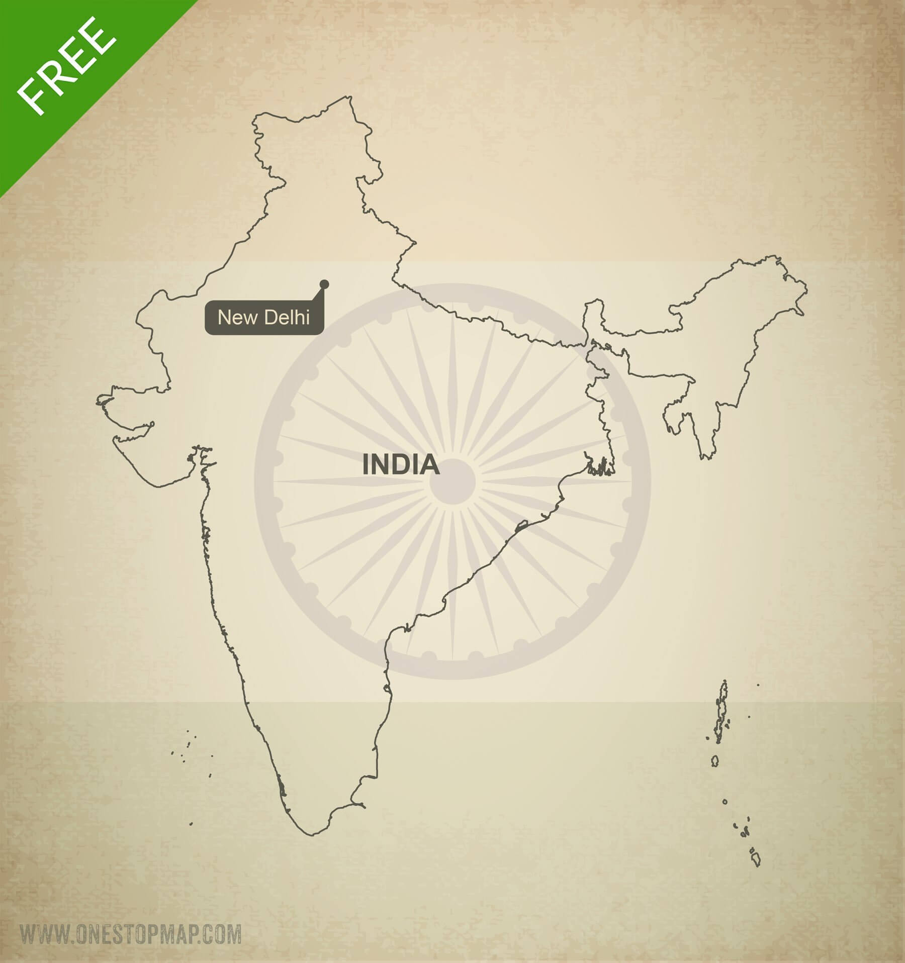 Map of India outline