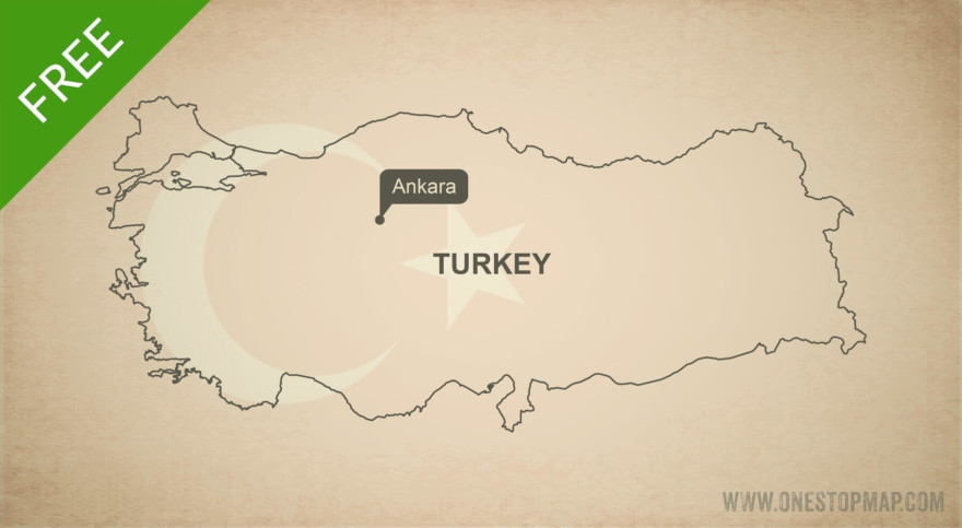 Map of Turkey outline