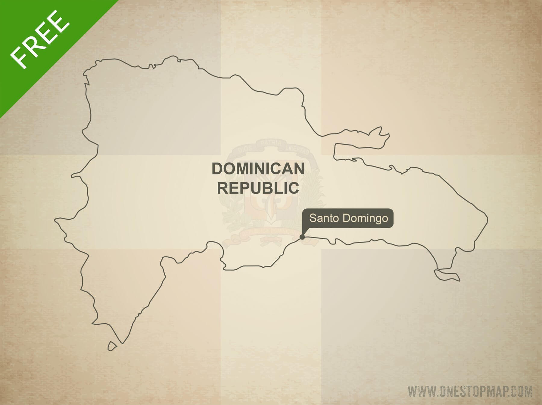 Map of Dominican Republic outline