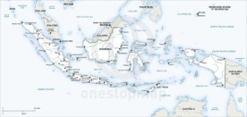 Map of Indonesia political