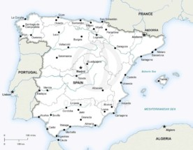 Map of Spain political