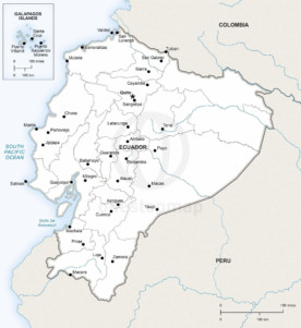 Map of Ecuador political