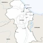Map of Guyana political