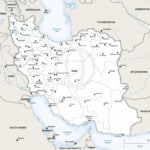 Map of Iran political