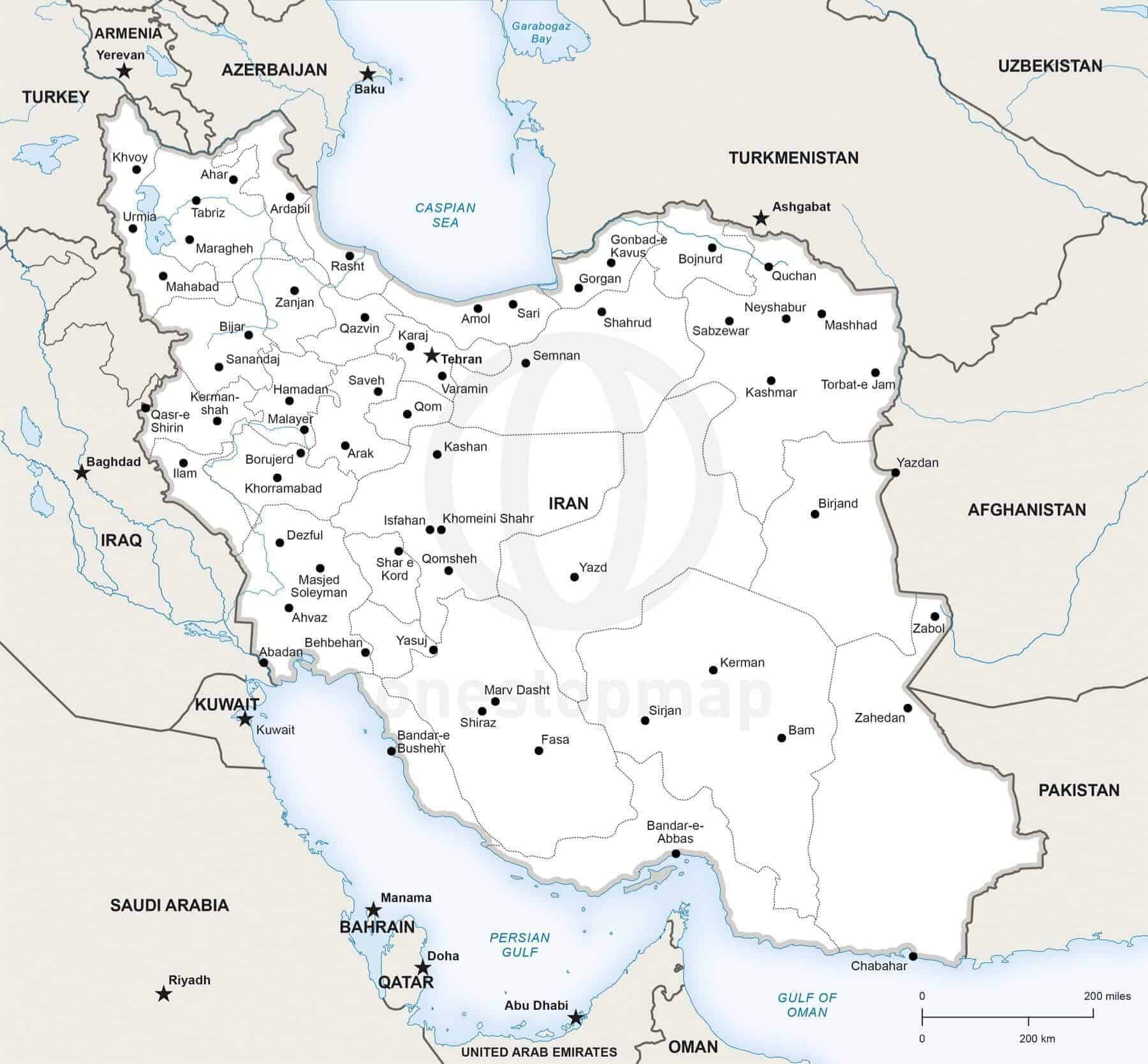 Map of Iran political