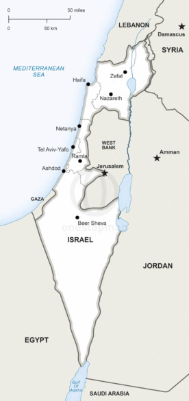 Map of Israel political