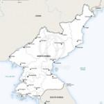 Map of North Korea political
