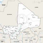 Map of Mali political