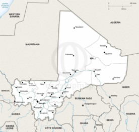 Map of Mali political