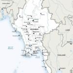 Map of Myanmar political