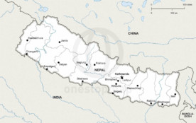 Map of Nepal political