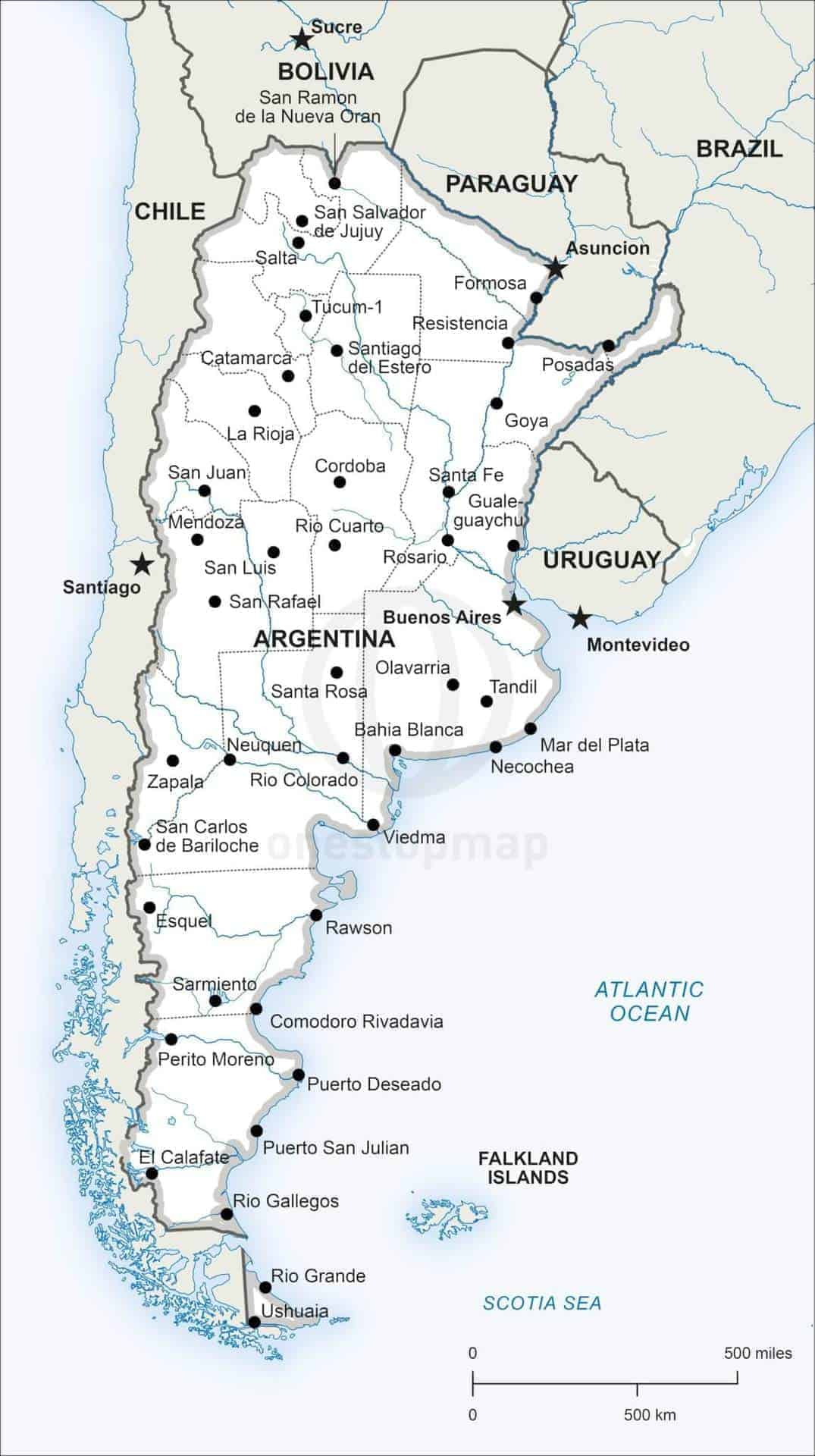 Map of Argentina political