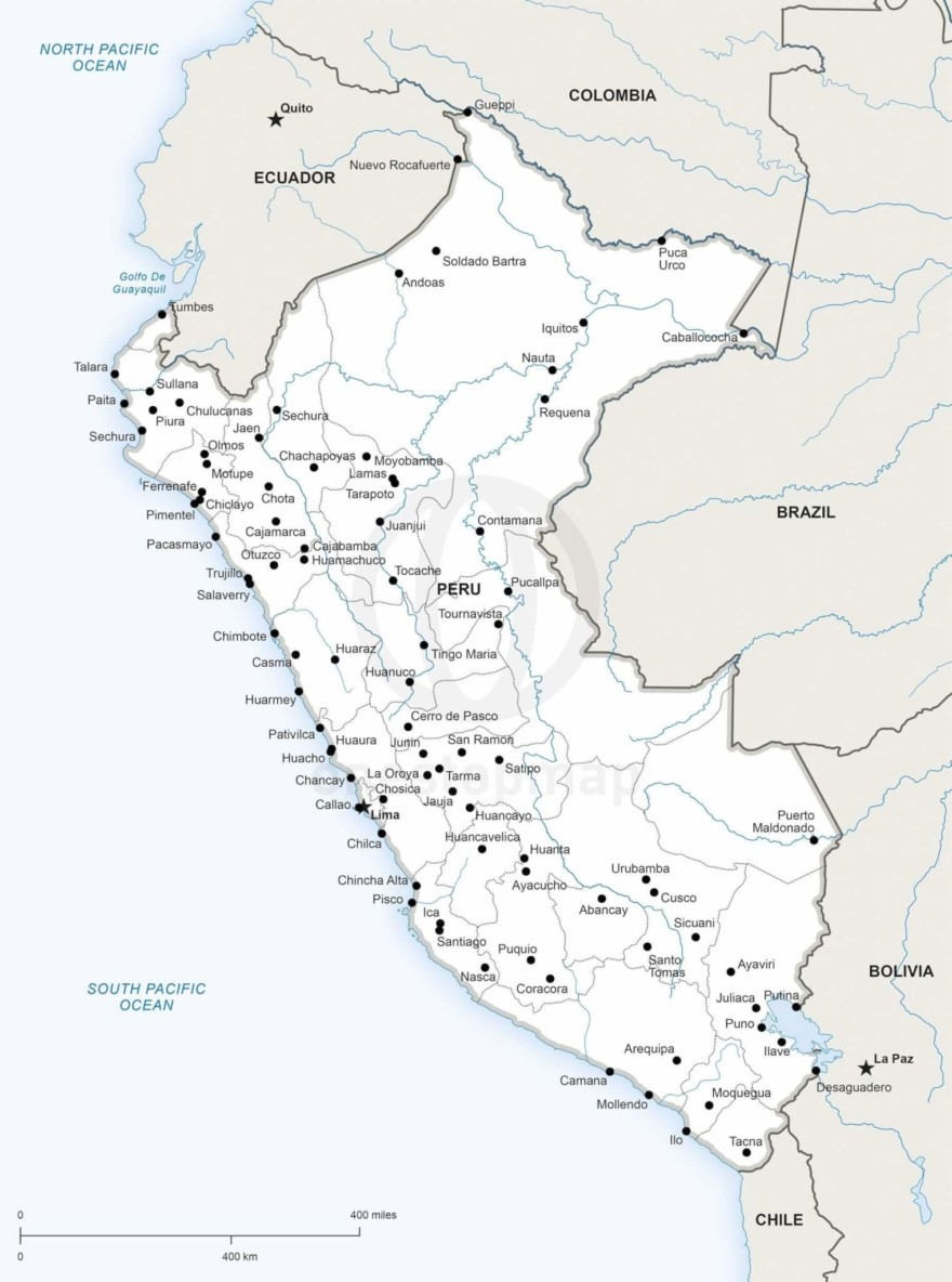 Map of Peru political