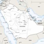 Map of Saudi Arabia political