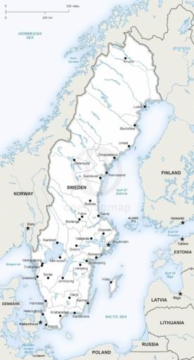 Map of Sweden political