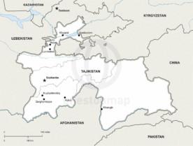 Map of Tajikistan political