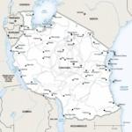 Vector map of Tanzania political