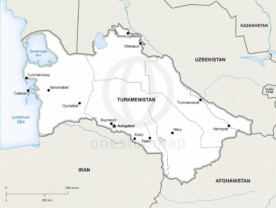 Map of Turkmenistan political