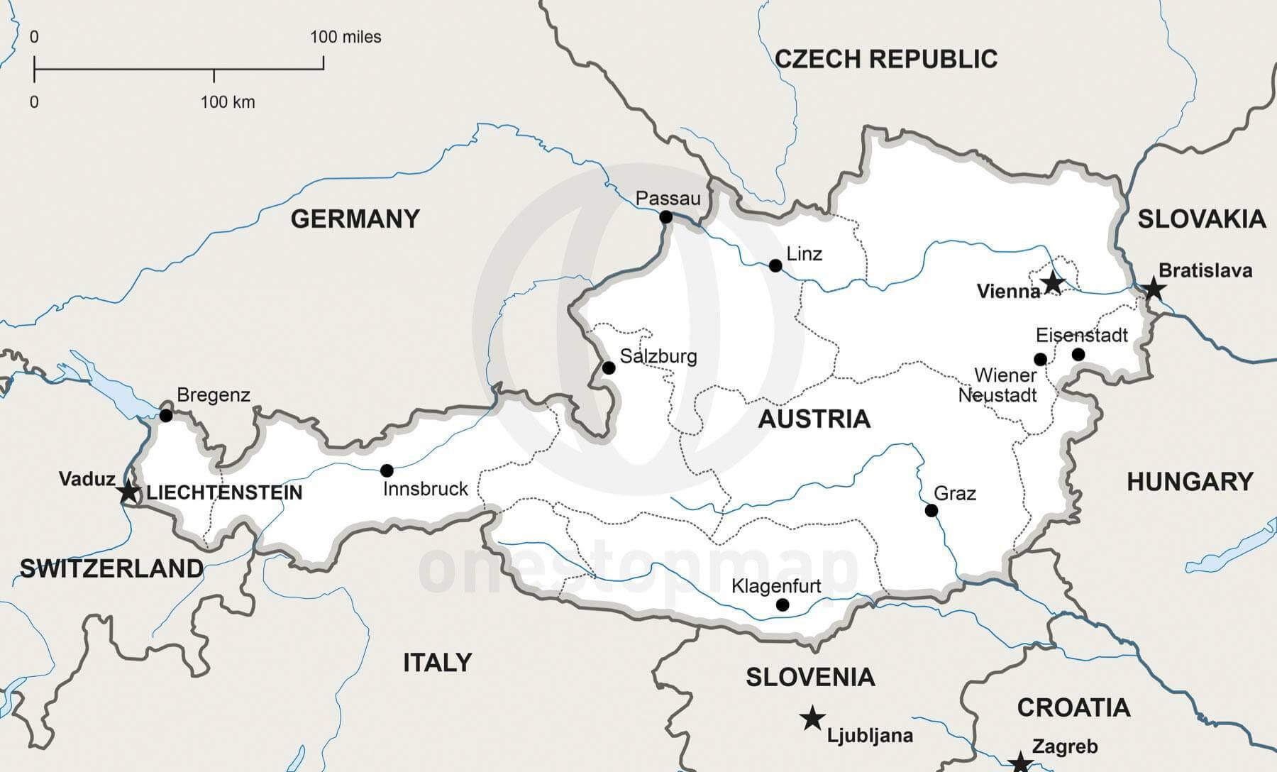 Map of Austria political