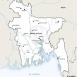 Map of Bangladesh political