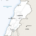 Map of Lebanon political