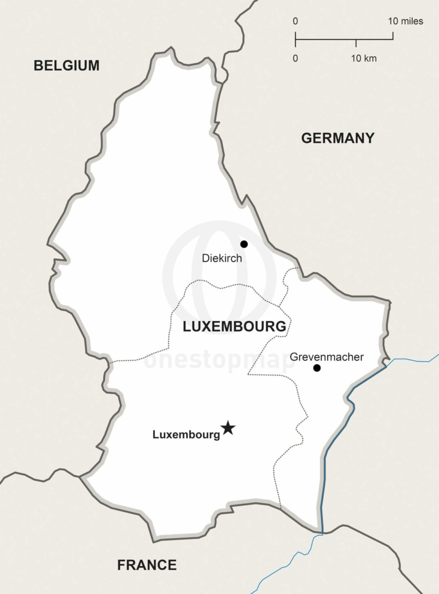Map of Luxembourg political