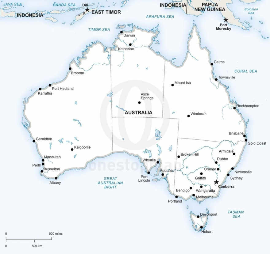 Map of Australia political