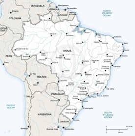 Map of Brazil political