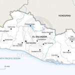 Map of El Salvador political