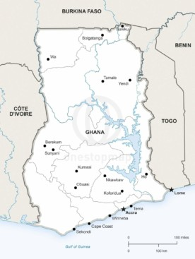 Map of Ghana political