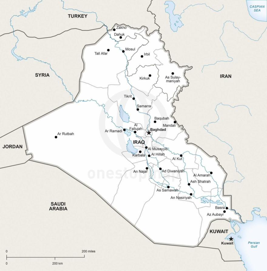 Map of Iraq political