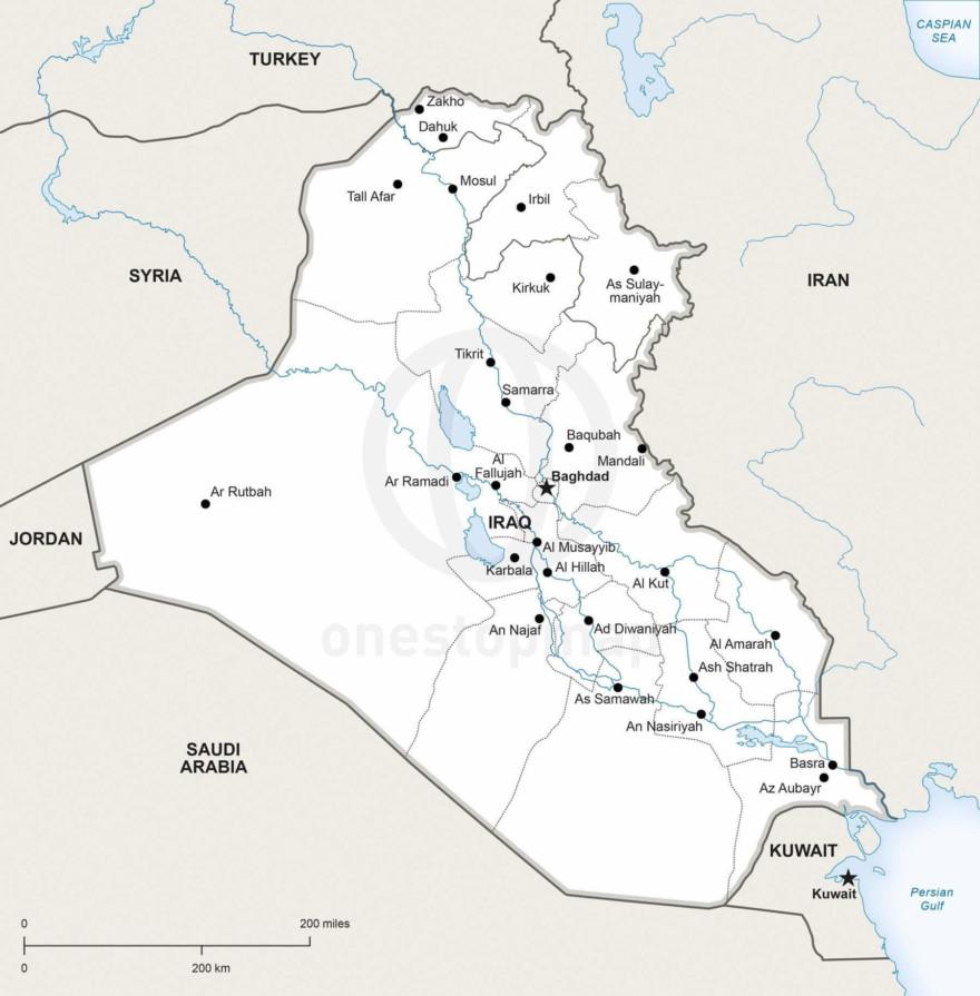 Map of Iraq political