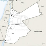 Map of Jordan political