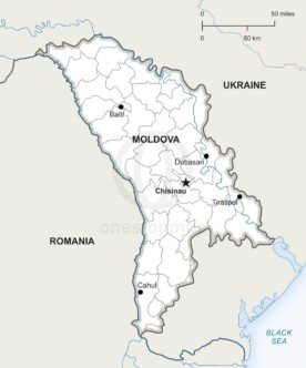 Map of Republic of Moldova political