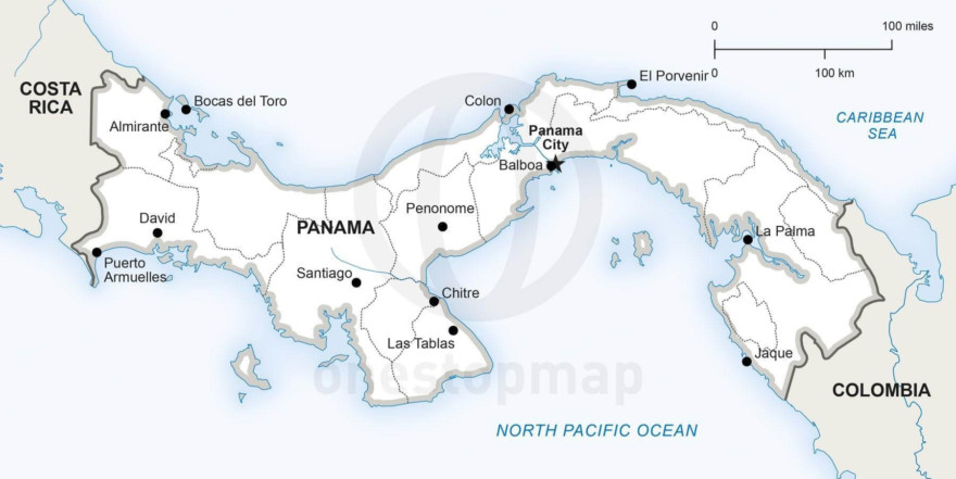 Map of Panama political